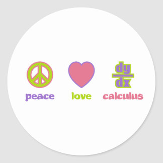Peace, Love & Calculus Stickers