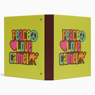 Peace Love Camel 3 Ring Binder
