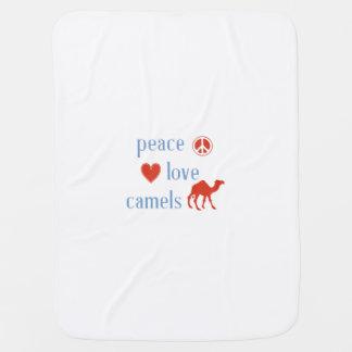 Peace Love Camels Receiving Blanket