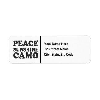 Peace Love Camo Label