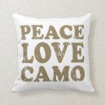 Peace Love Camo Pillows