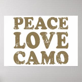 Peace Love Camo Poster