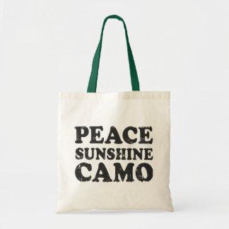 Peace Love Camo Tote Bag
