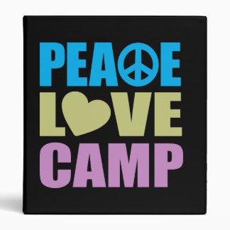 Peace Love Camp Binder