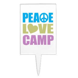 Peace Love Camp Cake Topper