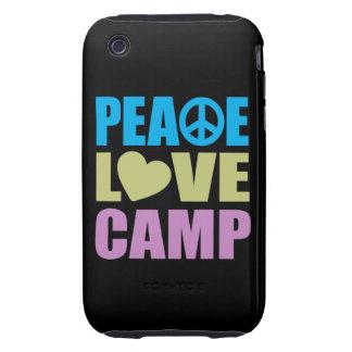 Peace Love Camp iPhone 3 Tough Cases