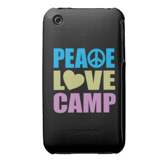 Peace Love Camp iPhone 3 Cover