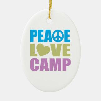 Peace Love Camp Ceramic Ornament