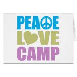 Peace Love Camp Greeting Card