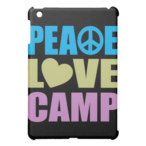 Peace Love Camp iPad Mini Covers
