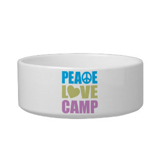 Peace Love Camp Cat Food Bowls