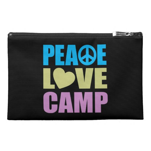 Peace Love Camp Travel Accessory Bags