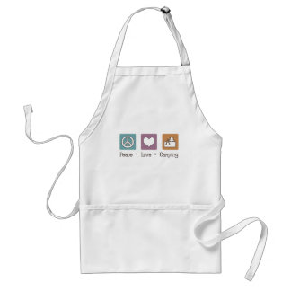 Peace Love Camping Adult Apron