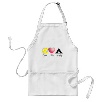 Peace, Love, Camping Adult Apron