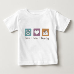 Peace Love Camping Baby T-Shirt