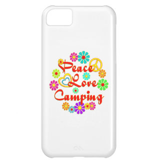 PEACE LOVE Camping Case For iPhone 5C