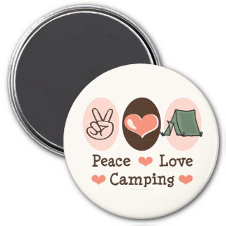 Peace Love Camping Magnet
