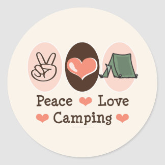 Peace Love Camping Stickers