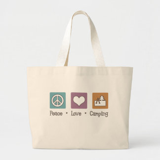 Peace Love Camping Tote Bags