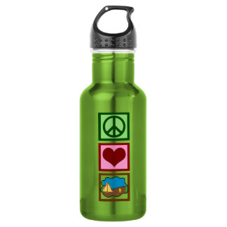 Peace Love Camping Water Bottle