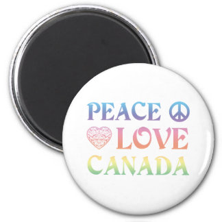 Peace Love Canada Magnet