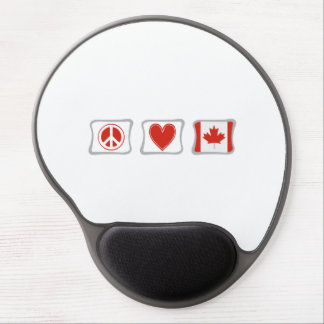 Peace Love Canada Squares Gel Mouse Pad