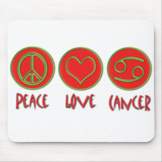 Peace Love Cancer Mouse Pad