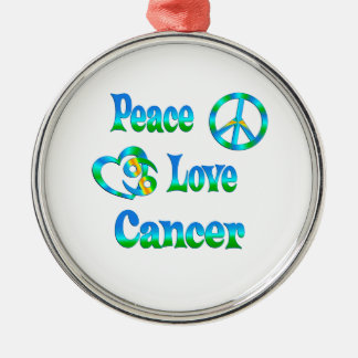 Peace Love Cancer Ornaments