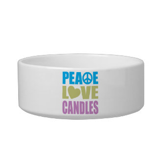 Peace Love Candles Bowl