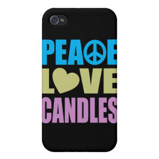 Peace Love Candles iPhone 4/4S Cover