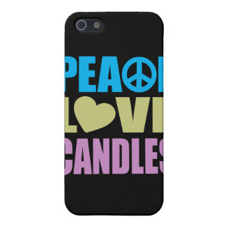 Peace Love Candles iPhone 5 Cover