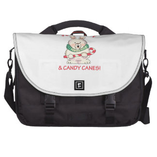PEACE LOVE CANDY CANES BAG FOR LAPTOP