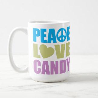 Peace Love Candy Coffee Mug