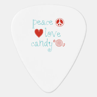 Peace Love Candy Guitar Pick