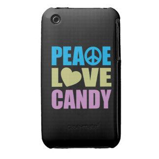 Peace Love Candy iPhone 3 Case-Mate Case