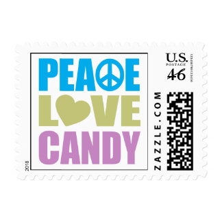 Peace Love Candy Postage Stamp