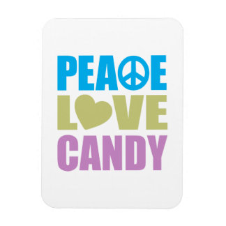 Peace Love Candy Rectangle Magnet