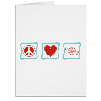 Peace Love Candy Squares Large Greeting Card