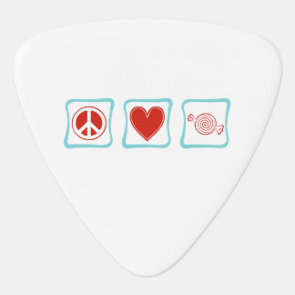 Peace Love Candy Squares Guitar Pick