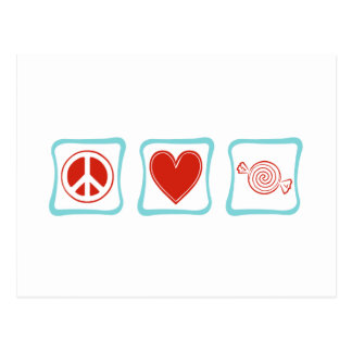 Peace Love Candy Squares Postcard