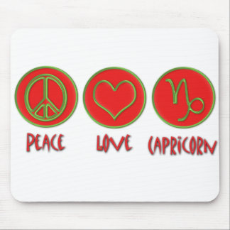 Peace Love Capricorn Mouse Pad