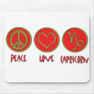 Peace Love Capricorn Mouse Pad