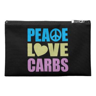 Peace Love Carbs Travel Accessory Bag