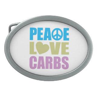 Peace Love Carbs Belt Buckles
