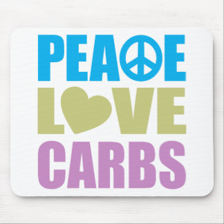 Peace Love Carbs Mouse Pad