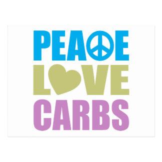 Peace Love Carbs Post Card