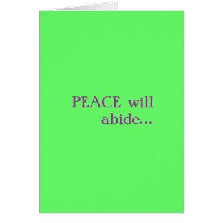 Peace...Love Card