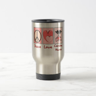 Peace Love Cardiac Nurse Mug