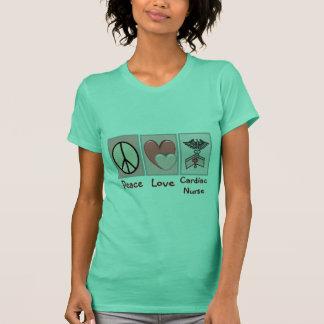 Peace Love Cardiac Nurse T-Shirt
