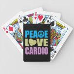 Peace Love Cardio Bicycle Card Decks